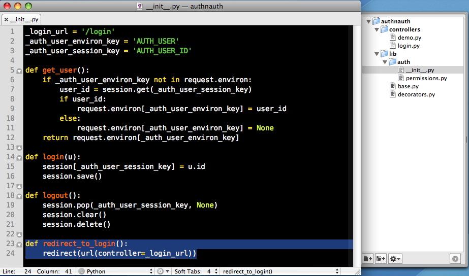 lib auth __init__ redirect_to_login — Shabti v0 4 3