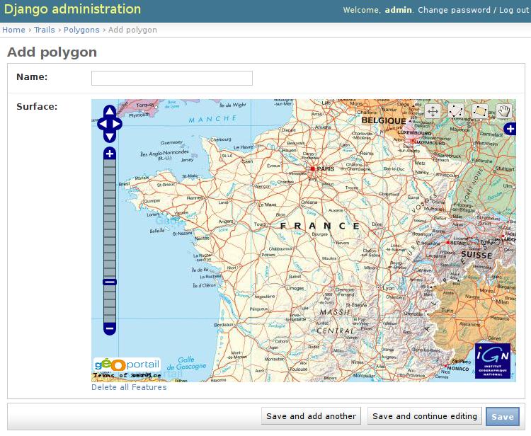 Admin integration — Django-geoportail v0 4 5 documentation