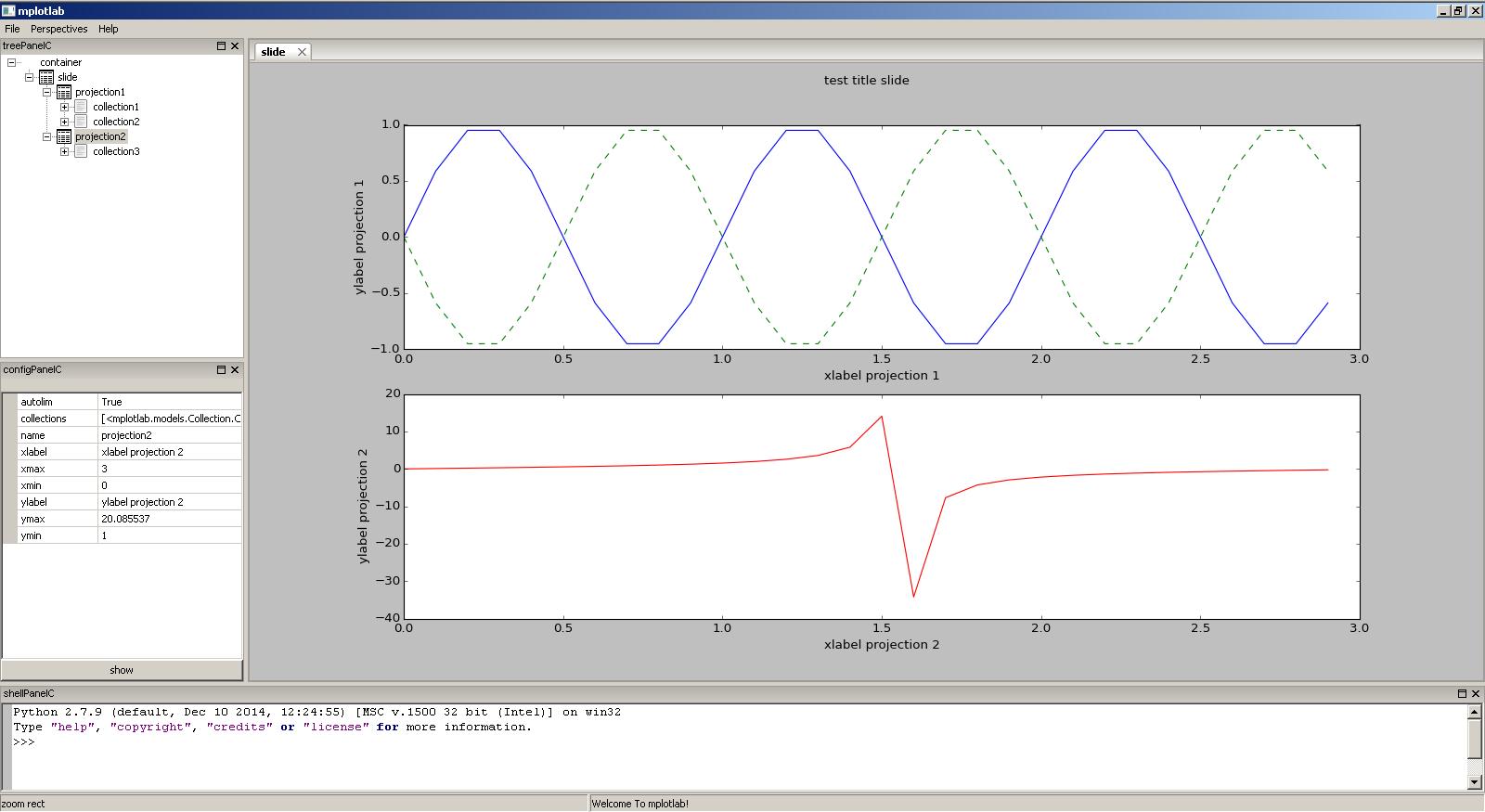Examples — MPLOTLAB: Interactive Matplotlib Application